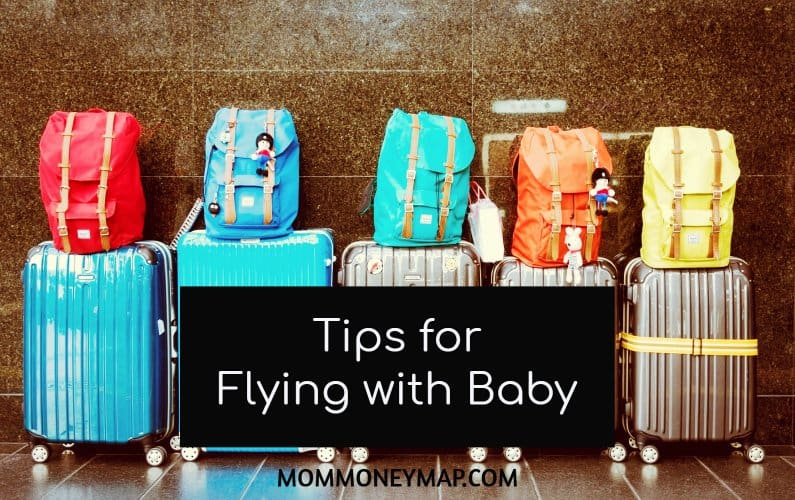 Baby's First Flight? Here are my Best Tips for flying with a baby on a plane.