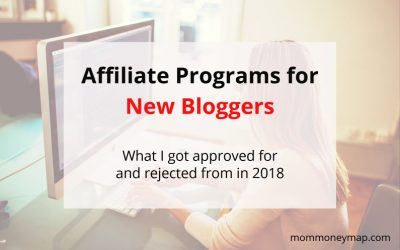 Affiliate Programs I got approved for and rejected from as a New Blogger