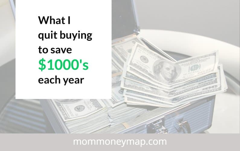 What I quit buying to save money