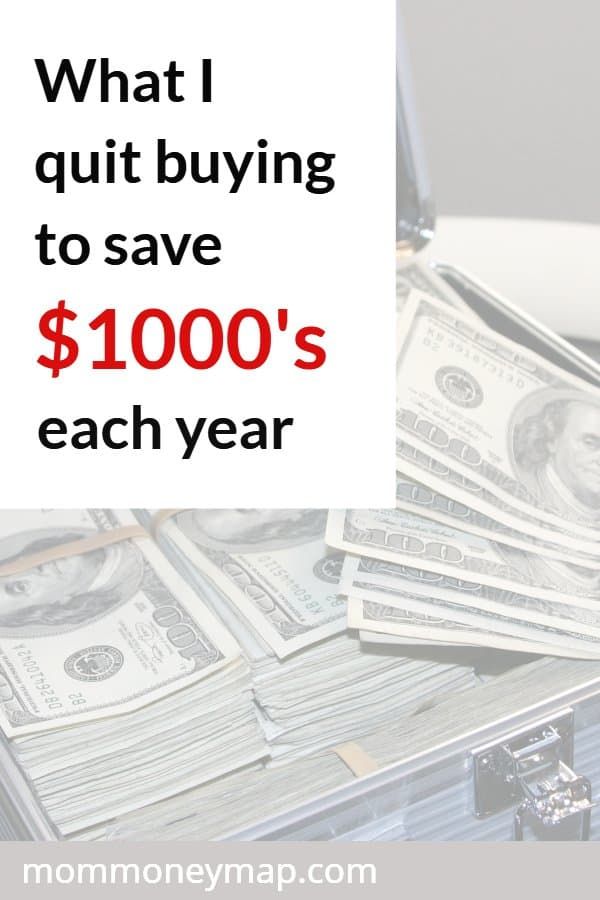 What I quit buying to save thousands each year