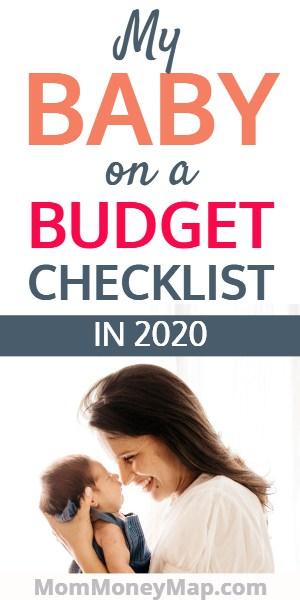 Newborn baby budget checklist